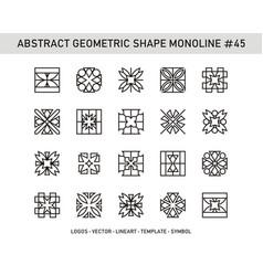 Abstract geometric shape monoline 45 vector