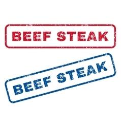 Beef steak rubber stamps vector
