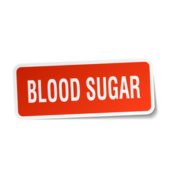 Blood sugar square sticker on white vector