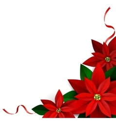 Christmas decoration on white vector