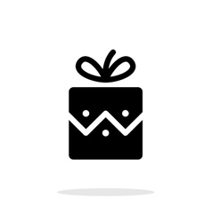 Christmas present icon on white background vector image vector image