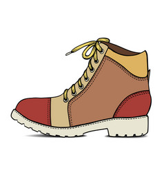 Color sketch with army boots vector