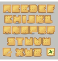 Cracker artistic font vector