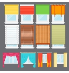 Detailed window isolated set vector image