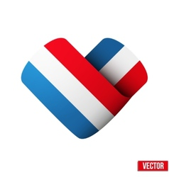 Flag icon in the form of heart I love Netherlands vector image
