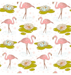 Flamingo seamless big vector image vector image