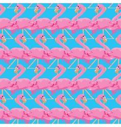 flamingos seamless 380 vector image vector image