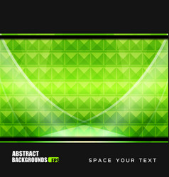 Geometric green backgrounds design vector