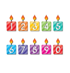 Happy birthday number candles vector