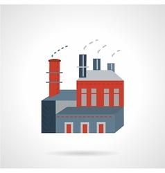 Industry building flat icon vector