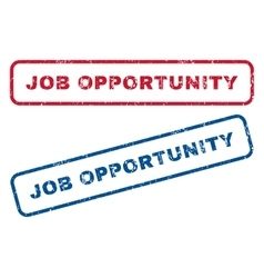 Job Opportunity Rubber Stamps vector image vector image