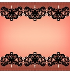 Lace borders vector image vector image