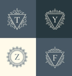 luxury logos set vector image