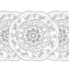 Mandala coloring seamless for adults vector image vector image