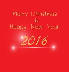 Merry christ mass and 2016 happy new year greeting vector