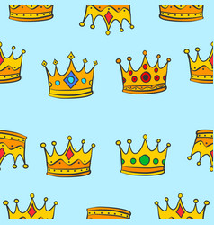 Pattern of crown elegant collection vector