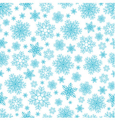 seamless pattern of snowflakes on white vector image