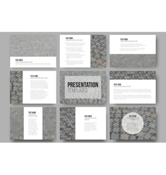 Set of 9 templates for presentation slides vector image