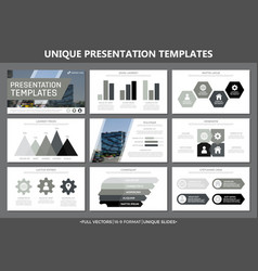 Set of gray elements for multipurpose presentation vector