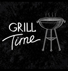 typographical barbecue design concept vector image vector image
