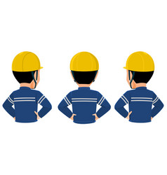 Worker back view vector