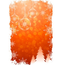 Grungy christmas card vector