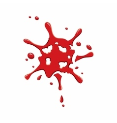 Small spot of blood icon vector