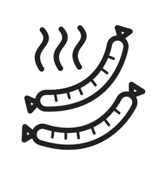 Hot sausage vector