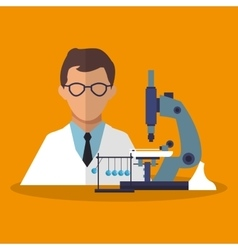 Colorful scientific and laboratory design vector