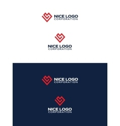 red love logo vector image