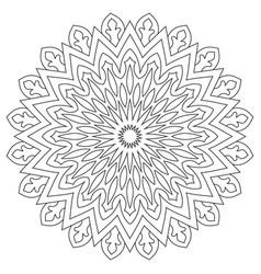 circular geometric ornament round outline mandala vector image