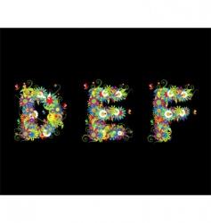 alphabet floral vector image