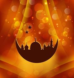 Greeting card template for Ramadan Kareem vector image