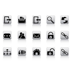 Web and internet button icons vector