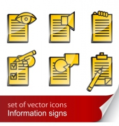 Set informational sign icon vector