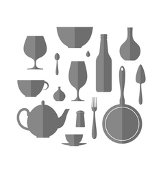 Kitchen utensil icon set vector