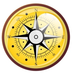 Wind rose compass flat symbols vector