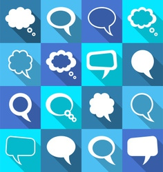 Speech and thought bubbles vector