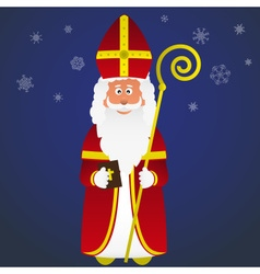 Colorful saint nicolas character holiday eps10 vector