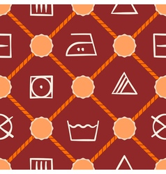 Seamless background with washing symbols vector