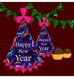 Happy new year celebration background vector
