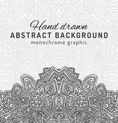Monochrome hand drawn background vector