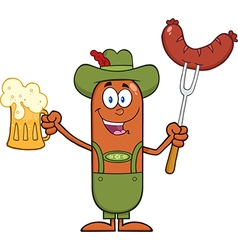 German Oktoberfest Sausage Cartoon vector image