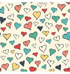 Seamless Festive Love Abstract Pattern with Hand vector image