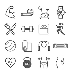 Set of exercise icons vector