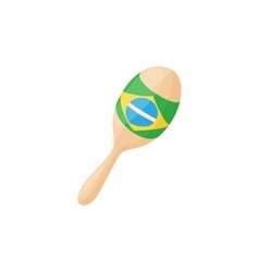 Brazilian maracas icon cartoon style vector