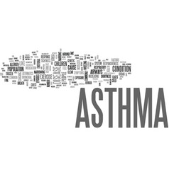 Asthma cough text word cloud concept vector