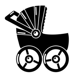 Baby carriage big icon simple black style vector