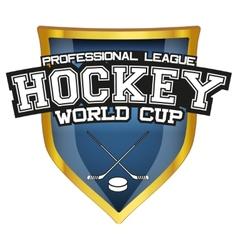 Bright shield in the ice hockey symbol vector