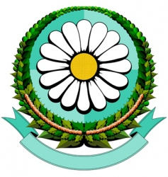 daisy cartoon logo vector image